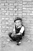 Young little man in hat
