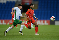 Ellis Harrison of Wales u21s (Bristol Rovers) in action. - Photo mandatory by-line: Alex James/JMP - Mobile: 07966 386802 - 31/03/2015 - SPORT - Football - Cardiff - Cardiff City Stadium - Wales v Bulgaria - U21s International Friendly