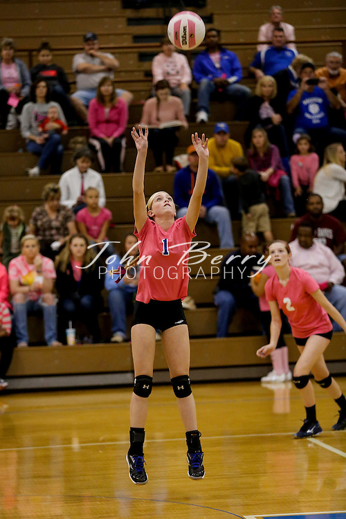 October 06, 2014.  <br /> MCHS JV Volleyball vs Luray.  Madison loses to Luray 2-0.
