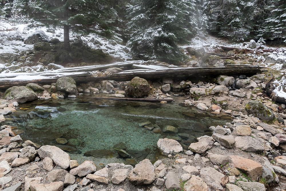 Stanley Hot Springs in Idaho's Selway - Bitterroot Wilderness Area.