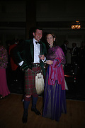 Guy Macpherson Grant and Jessica Fulford-Dobson. The  Royal Caledonian Ball in aid of The Royal Caledonian Ball Trust held at The Grosvenor House Hotel, Park Lane, London W1.  28  April 2005. ONE TIME USE ONLY - DO NOT ARCHIVE  © Copyright Photograph by Dafydd Jones 66 Stockwell Park Rd. London SW9 0DA Tel 020 7733 0108 www.dafjones.com
