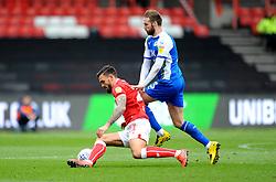 Marlon Pack of Bristol City is fouled by Nick Powell of Wigan Athletic - Mandatory by-line: Nizaam Jones/JMP - 06/04/2019 - FOOTBALL - Ashton Gate Stadium - Bristol, England - Bristol City v Wigan Athletic -Sky Bet Championship