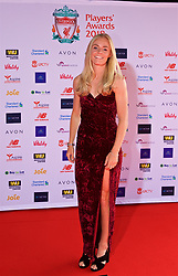 LIVERPOOL, ENGLAND - Thursday, May 10, 2018: Liverpool FC Ladies player and Wales captain Sophie Ingle arrives on the red carpet for the Liverpool FC Players' Awards 2018 at Anfield. (Pic by David Rawcliffe/Propaganda)