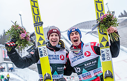11.03.2018, Holmenkollen, Oslo, NOR, FIS Weltcup Ski Sprung, Raw Air, Oslo, im Bild Michael Hayboeck (AUT), Stefan Kraft (AUT) // Michael Hayboeck of Austria, Stefan Kraft of Austria during the 1st Stage of the Raw Air Series of FIS Ski Jumping World Cup at the Holmenkollen in Oslo, Norway on 2018/03/11. EXPA Pictures © 2018, PhotoCredit: EXPA/ JFK