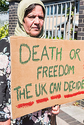 Pictured: <br /> <br /> FAMILY DESPERATE FOR A RESOLUTION TO THEIR CASE HAS GONE ON HUNGER STRIKE OUTSIDE GLASGOW IMMIGRATION OFFICE.<br /> <br /> A family of Kurdish, Iraqi Refugees living in Glasgow have gone on hunger strike outside the Home Office's immigration enforcement and reporting centre, after waiting 13 years for a resolution to their case.<br /> <br /> The family are calling for friends and family to join them outside the centre at 11am on Thursday 28th June, Festival Court, 200 Brand St, Glasgow G51 1DH.<br /> <br /> However, they are currently sat outside alone and anyone wishing to come now and offer support, can come now.<br /> <br /> The youngest, Banez, 18, has recently been accepted to study law but cannot start her studies because of her legal status.<br /> <br /> Dastan, 19, is Scottish Amateur Lightweight Champion and fears for his future as he cannot progress his boxing career, again due to restrictions because of his status.<br /> <br /> His older brother, Daban, is a Mechanical Engineering Graduate from The University of Aberdeen, but has had job offers rejected when it comes to checking his legal status.<br /> <br /> The family are now desperate and have informed the home office that they cannot wait any longer for a decision on their lives.<br /> <br /> Contact Jamie on 07933860363 for further details.<br /> <br /> Karen Gordon | EEm 28 June 2018