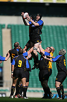 Photo: Jonathan Butler.<br /> <br /> Northwich v Bradford Salem. EDF Energy Senior Vase Final. 15/04/2007. Damien Cope wins lineout ball for Bradford