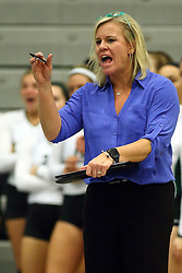 28 October 2016:  Kim Nelson-Brown during an NCAA womens division 3 Volleyball match between the DePauw Tigers and the Illinois Wesleyan Titans in Shirk Center, Bloomington IL