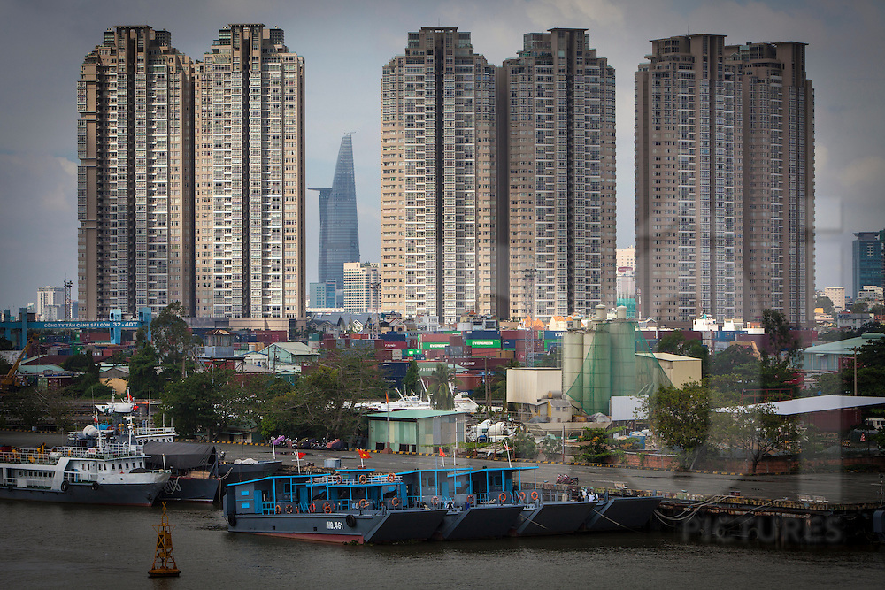 Shipping port in Ho Chi Minh City, Vietnam, Southeast Asia