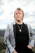 George, WA. - May 25th, 2012 James McCartney poses for a portrait backstage at the Sasquatch Music Festival in George, WA. United States