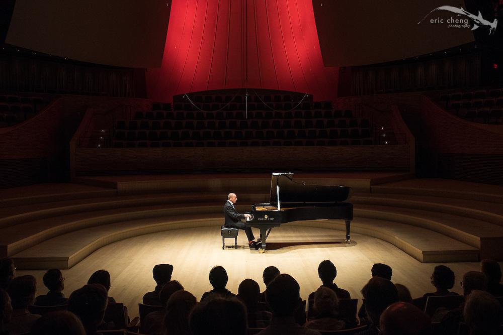 Pedja Muzijevic plays during a free noon recital at Bing Concert Hall #slsq2014