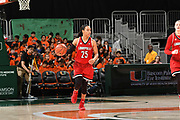 January 25, 2018: Asia Durr #25 of Louisville in action during the NCAA basketball game between the Miami Hurricanes and the Louisville Cardinals in Coral Gables, Florida. The Cardinals defeated the 'Canes 84-74.