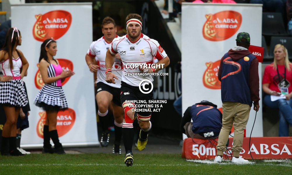 DURBAN, SOUTH AFRICA - AUGUST 22: Jaco Kriel (captain) of the Xerox Golden Lions during the Absa Currie Cup match between Cell C Sharks and Xerox Golden Lions at Growthpoint Kings Park on August 22, 2015 in Durban, South Africa. (Photo by Steve Haag/Gallo Images)