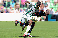 Onderwerp/Subject: FC Groningen - Willem II - Eredivisie<br /> Reklame:  <br /> Club/Team/Country: <br /> Seizoen/Season: 2012<br /> FOTO/PHOTO: Mitchell SCHET (L) of FC Groningen in duel with Mitchell PIQUE (R) of Willem II. (Photo by PICS UNITED)<br /> <br /> Trefwoorden/Keywords: <br /> #04 $94 ±1341399422636<br /> Photo- & Copyrights © PICS UNITED <br /> P.O. Box 7164 - 5605 BE  EINDHOVEN (THE NETHERLANDS) <br /> Phone +31 (0)40 296 28 00 <br /> Fax +31 (0) 40 248 47 43 <br /> http://www.pics-united.com <br /> e-mail : sales@pics-united.com (If you would like to raise any issues regarding any aspects of products / service of PICS UNITED) or <br /> e-mail : sales@pics-united.com   <br /> <br /> ATTENTIE: <br /> Publicatie ook bij aanbieding door derden is slechts toegestaan na verkregen toestemming van Pics United. <br /> VOLLEDIGE NAAMSVERMELDING IS VERPLICHT! (© PICS UNITED/Naam Fotograaf, zie veld 4 van de bestandsinfo 'credits') <br /> ATTENTION:  <br /> © Pics United. Reproduction/publication of this photo by any parties is only permitted after authorisation is sought and obtained from  PICS UNITED- THE NETHERLANDS