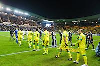 Entree des joueurs  - 20.01.2015 - Nantes / Lyon  - Coupe de France 2014/2015<br /> Photo : Vincent Michel / Icon Sport