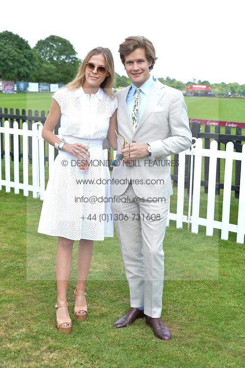Lord Settrington and Eleanor Decaux at Cartier Queen's Cup Polo, Guard's Polo Club, Berkshire, England. 18 June 2017.