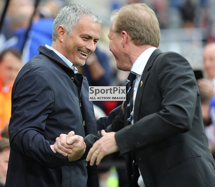 Newcastle United v Chelsea English Premiership 26 September 2015; Steve McClaren (Newcastle Head Coach)and First Team Manager Jose Mourinho (Chelsea) before the Newcastle v Chelsea English Premiership match played at St. James' Park, Newcastle; <br /> <br /> &copy; Chris McCluskie | SportPix.org.uk