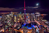 Moonlight over Toronto & Lake Ontario