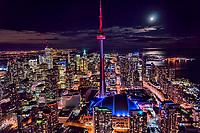 Moonlight & Toronto Cityscape