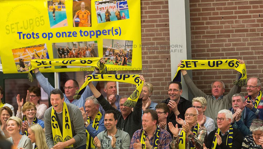 09-04-2016 NED: Coolen Alterno - Springendal Set Up 65, Apeldoorn<br /> Set Up wint met 3-2 en dat blijkt genoeg om zich te plaatsen voor de finale. / Set Up publiek support