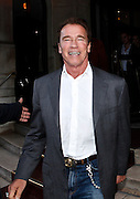 12.OCTOBER.2012. PARIS<br /> <br /> ARNOLD SCHWARZENEGGER LEAVES THE LUTETIA HOTEL AFTER GIVING A PRESS CONFERENCE TO PROMOTE HIS AUTOBIOGRAPHY 'TOTAL RECALL' IN PARIS, FRANCE.<br /> <br /> BYLINE: EDBIMAGEARCHIVE.CO.UK<br /> <br /> *THIS IMAGE IS STRICTLY FOR UK NEWSPAPERS AND MAGAZINES ONLY*<br /> *FOR WORLD WIDE SALES AND WEB USE PLEASE CONTACT EDBIMAGEARCHIVE - 0208 954 5968*