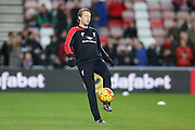 Liverpool midfielder Lucas Leiva  during the Barclays Premier League match between Sunderland and Liverpool at the Stadium Of Light, Sunderland, England on 30 December 2015. Photo by Simon Davies.