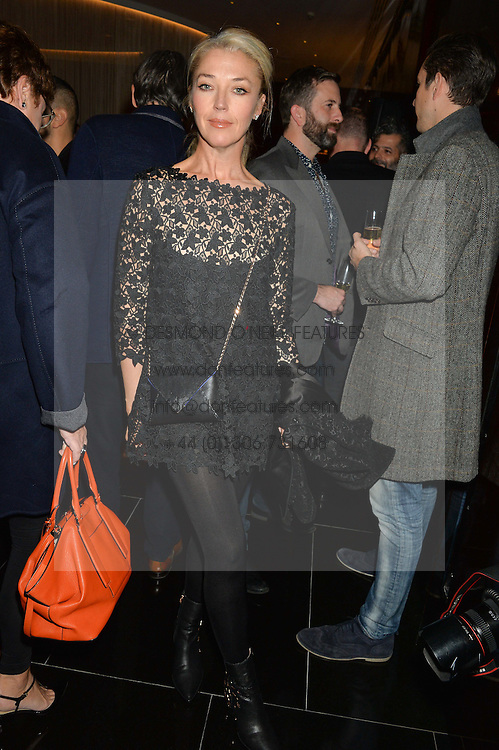 TAMARA BECKWITH at a party to celebrate Stuart Semple as artist in residence at The Bulgari Hotel held at Il Bar, Bulgari Hotel, 171 Knightsbridge, London on 14th October 2015.