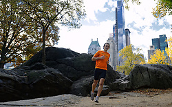 02-11-2013 ALGEMEEN: BVDGF NY MARATHON: NEW YORK <br /> Parcours verkenning en laatste training in het Central Park / Stefan<br /> ©2013-FotoHoogendoorn.nl