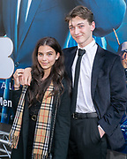 2019, June 17. Pathe ArenA, Amsterdam, the Netherlands. Fenna Hill and Leon Vervoort at the dutch premiere of Men In Black International.