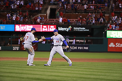 September 27, 2017 - St. Louis, MO, USA - The Chicago Cubs clinched the National League Central Division with a 5-1 win against the Cardinals on Wednesday, Sept., 27, 2017 at Busch Stadium in St. Louis, Mo. (Credit Image: © Nuccio Dinuzzo/TNS via ZUMA Wire)