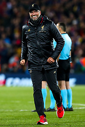Liverpool manager Jurgen Klopp celebrates victory over Barcelona to make the Champions League Final - Mandatory by-line: Robbie Stephenson/JMP - 07/05/2019 - FOOTBALL - Anfield - Liverpool, England - Liverpool v Barcelona - UEFA Champions League Semi-Final 2nd Leg