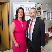 31.08. 2017.                                   <br /> Leaders in the pharmaceutical manufacturing sector in Ireland gathered at University of Limerick today for the third annual Pharmaceutical Manufacturing Technology Centre (PMTC) Knowledge Day.<br /> <br /> Pictured at the event were, Dr. Mary Shire, Vice President Research UL and Sean Kelly MEP.<br /> <br /> The event provided a showcase for the cutting-edge research supported by the centre with key note addresses from industry thought leaders who shared their vision of the future for the pharmaceutical sector. Picture: Alan Place