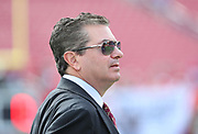Nov 11, 2018; Tampa, FL USA: Washington Redskins owner Daniel Snyder looks on before his team plays the Tampa Bay Buccaneers at Raymond James Stadium. The Redskins beat the Buccaneers 16-3. (Steve Jacobson/Image of Sport)