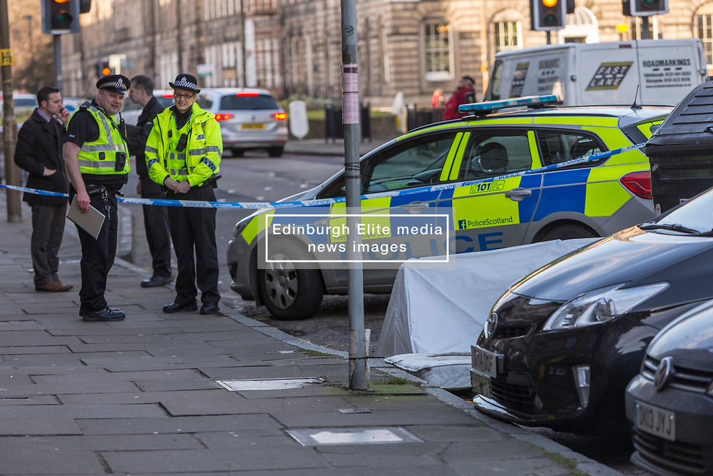 Police in Edinburgh are currently in attendance following the discovery of a man's body in East London Street.<br />  <br /> The incident was reported to police and emergency services around 7.45am on Thursday, February 22.<br />  <br /> Inquiries are currently ongoing, and the death is being treated as unexplained. A report will be submitted to the Procurator Fiscal.