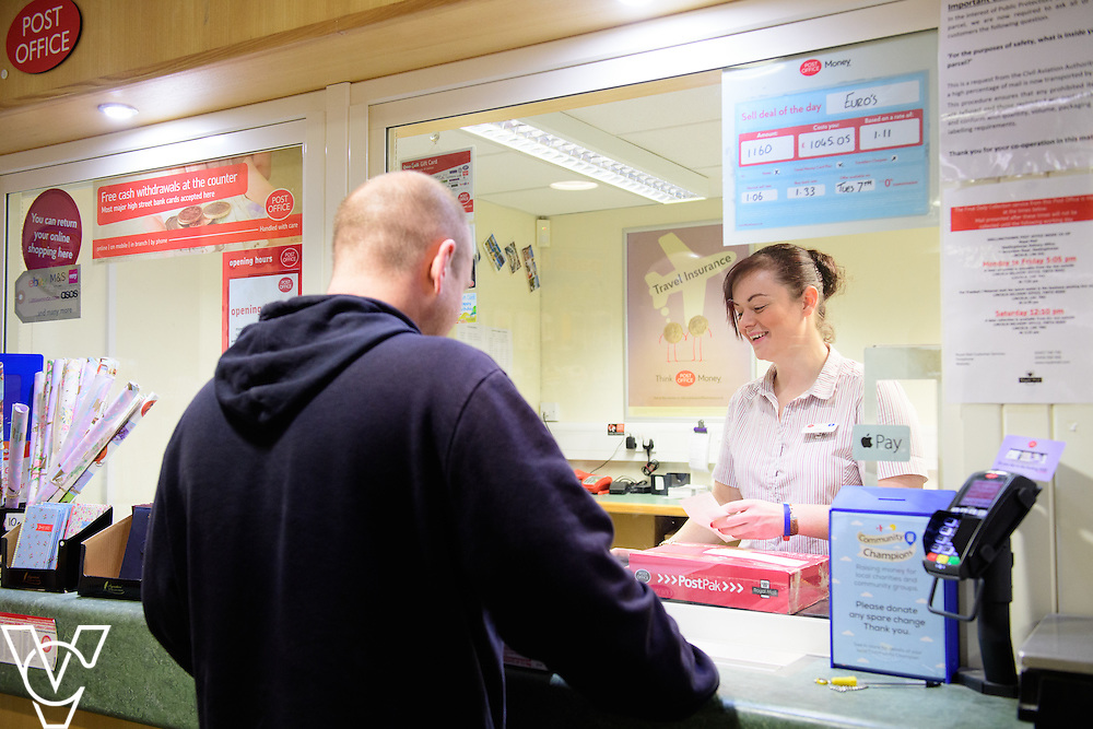 Skellingthorpe Post Office have performed particularly well over busy periods, including Christmas.  Pictured is Emily Nelson serving a customer.<br /> <br /> Picture: Chris Vaughan Photography<br /> Date: February 7, 2017