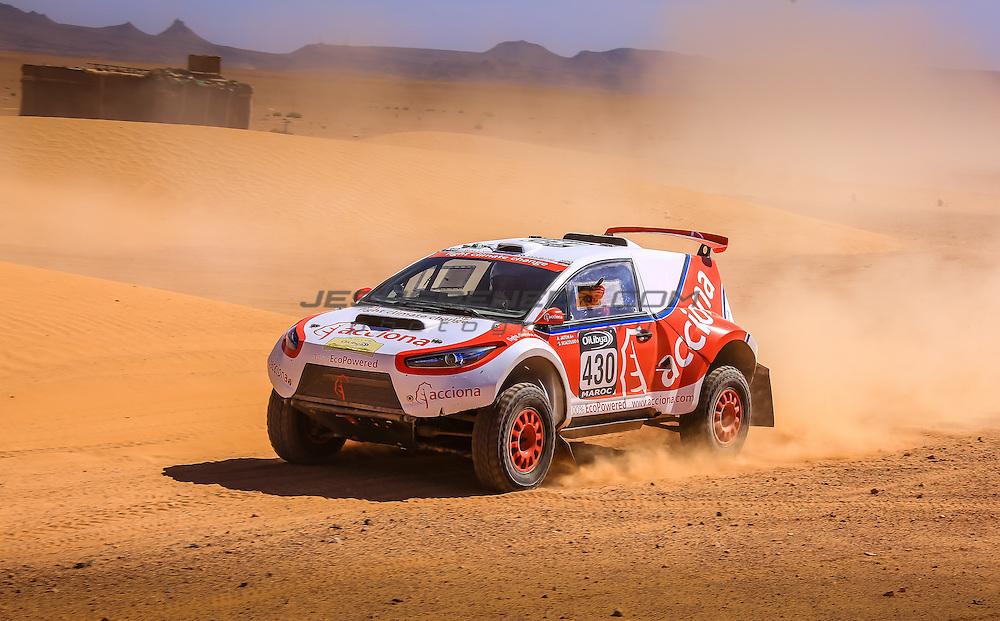 Acciona 100x100 ecopowered,electric car, Marocco rally 2015, day 4