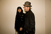SERENA REES; PAUL SIMONON, Rebecca Warren exhibition opening at the Serpentine Gallery. London.  9 March  2009 *** Local Caption *** -DO NOT ARCHIVE -Copyright Photograph by Dafydd Jones. 248 Clapham Rd. London SW9 0PZ. Tel 0207 820 0771. www.dafjones.com<br /> SERENA REES; PAUL SIMONON, Rebecca Warren exhibition opening at the Serpentine Gallery. London.  9 March  2009
