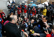 Juror number 7 talks the the media about his guilty verdict in the Brian David Mitchell trial outside federal court Friday, Dec. 10 2010 in Salt Lake City. Mitchell was found guilty for the June 5 2002 abduction of Elizabeth Smart. (AP Photo/Colin E Braley)