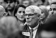 President of Stupp Corporation, a company that handles the coating of pipelines, at the permit hearing for the Bayou Bridge pipeline in Baton Rouge.