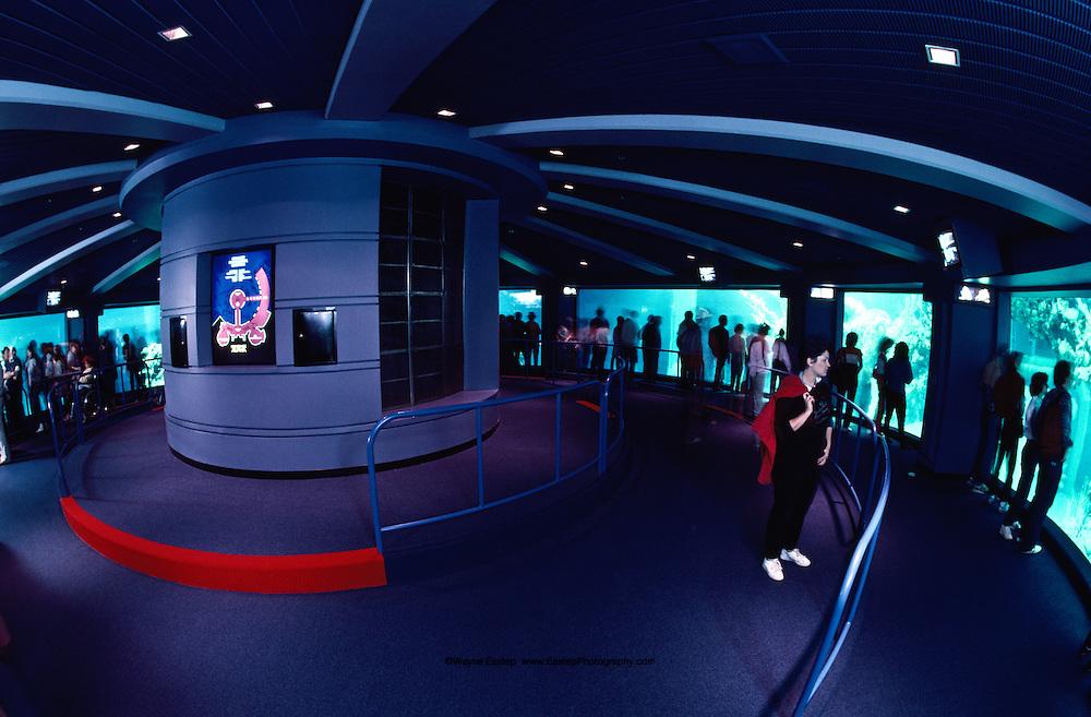 Interior of observation deck at The Living Seas Aquarium, EPCOT, Buena Vista, Florida