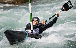 Alja Kozorog of Slovenia competes in Canoe Single (C1) Women during International Slalom Kayak-Canoe competition, on May 6, 2018 in Tacen, Ljubljana, Slovenia. Photo by Vid Ponikvar / Sportida