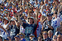 07 August 2010: Cowboy fans cheer at the Pro Football Hall of Fame in Canton, Ohio.