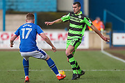 Forest Green Rovers Haydn Hollis(32) on the ball during the EFL Sky Bet League 2 match between Carlisle United and Forest Green Rovers at Brunton Park, Carlisle, England on 27 January 2018. Photo by Shane Healey.