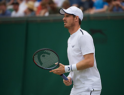 LONDON, ENGLAND - Saturday, July 6, 2019: Andy Murray (GBR) before the Gentlemen's Doubles second round match on Day Six of The Championships Wimbledon 2019 at the All England Lawn Tennis and Croquet Club. (Pic by Kirsten Holst/Propaganda)