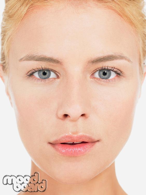 Young blonde Woman portrait close up