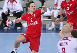 Thomas T. Mogensen of Denmark  during 21st Men's World Handball Championship 2009 Bronze medal match between National teams of Poland and Denmark, on February 1, 2009, in Arena Zagreb, Zagreb, Croatia.  Won of Poland 31:23. (Photo by Vid Ponikvar / Sportida)
