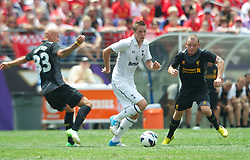 BALTIMORE, MD - Saturday, July 28, 2012: Tottenham Hotspur's Gylfi Sigurdsson in action against Liverpool during a pre-season friendly match at the M&T Bank Stadium. (Pic by David Rawcliffe/Propaganda)