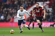 Christian Eriksen (23) of Tottenham Hotspur on the attack during the Premier League match between Bournemouth and Tottenham Hotspur at the Vitality Stadium, Bournemouth, England on 11 March 2018. Picture by Graham Hunt.