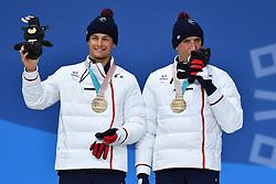 CLARION Thomas FRA B1 Guide: BOLLET Antoine, ParaSkiDeFond, Para Nordic Skiing, 20km, Podium at  the PyeongChang2018 Winter Paralympic Games, South Korea.