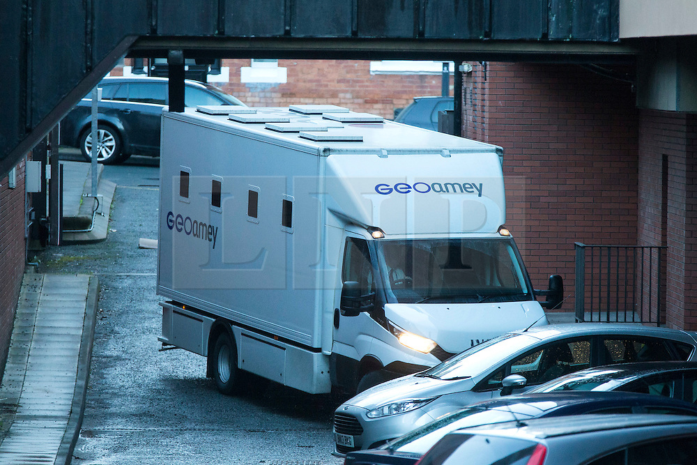 © Licensed to London News Pictures. 13/01/2017. Leeds UK. Picture shows a prison van arriving at Leeds Crown Court. A 15 Year old girl has appeared at Leeds Crown court today charged with the murder of 7 year old Katie Rough in York. Photo credit: Andrew McCaren/LNP