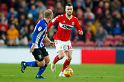 Middlesbrough midfielder Jonathan Howson (16) in action  during the EFL Sky Bet Championship match between Middlesbrough and Sheffield Wednesday at the Riverside Stadium, Middlesbrough, England on 26 December 2018.